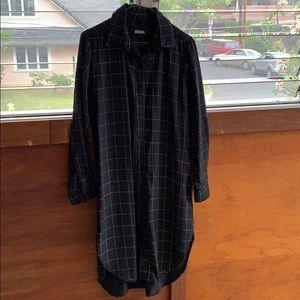 Reformation button down midi shirt dress